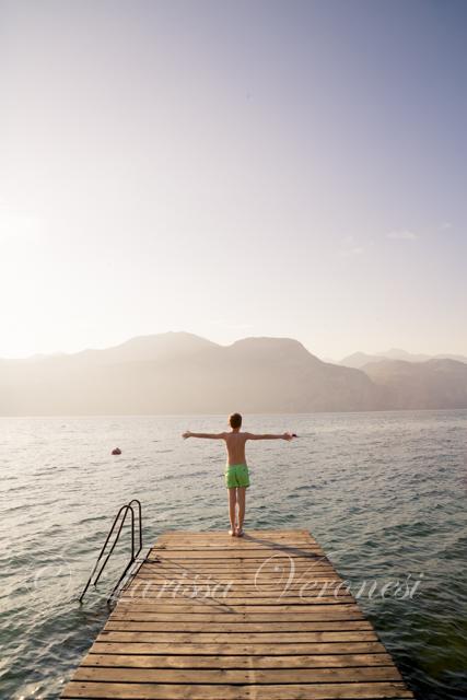 Junge am Gardasee