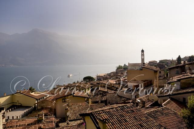 Limone, Blick über die Altstadt, Gardasee, Italien